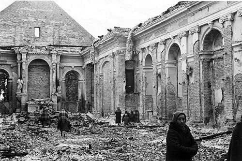 verwoestte kerk