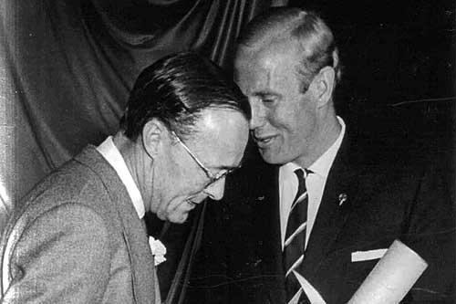 Prins Bernhard met Rob Slotemaker