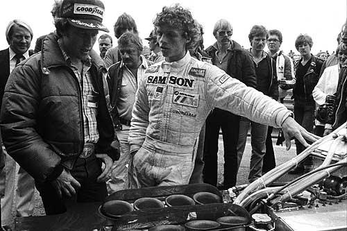 Jan Lammers met Kenny Roberts in 1980